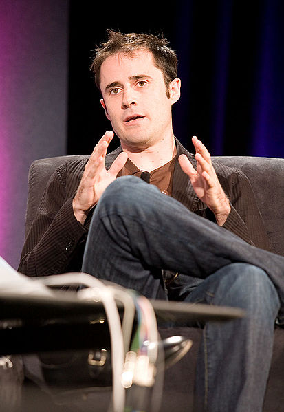 A picture of Evan Williams, Twitter cofounder on a seat